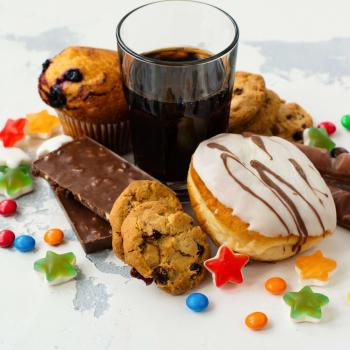 Foods containing added sugar, including soda, doughnuts, cookies, candy bars and muffins.