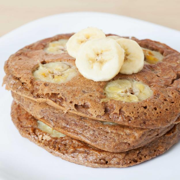 A plate of banana pancakes