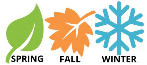 Peak season: spring, fall, and winter