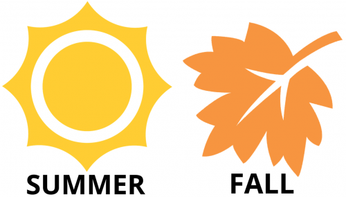Peak season: summer and fall